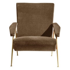 Molteni&C D.153.1 Armchair in Linen by Gio Ponti
