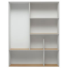 Molteni&C D.357.2 Suspended Bookcase in Hand Painted White by Gio Ponti