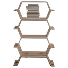 Molteni&C MHC.2 Bookcase with 3 Shelves in American Walnut by Yasuhito Itoh