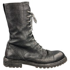 MOMA Size 9 Black Leather Lace Up Ankle Boots