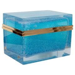 Monumental Rectangular Murano Glass Box