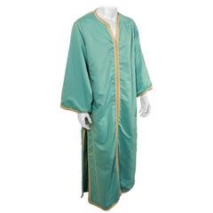 Moorish Turquoise Caftan 1970s Robe
