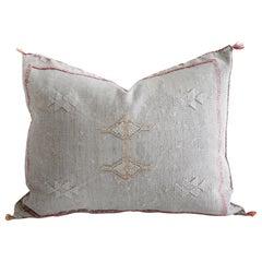 Moroccan Handwoven Cactus Silk Pillow