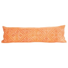 Moroccan Lumbar Pillow Case Fashioned from a Fez Embroidery, Early 20th Century