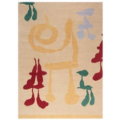 21st Century Mother and Child Modern Handmade Wool and Silk Rug
