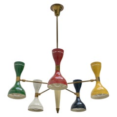 Multicolored Stilnovo Chandelier