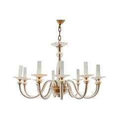 Murano Ten Arms Amber Toned Chandelier