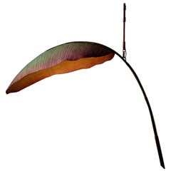 Nana Lure Solid-Leaf Hand-Sculpted Cast Cotton Paper Light by Pelle