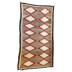 Navajo Indian Weaving Runner or Room Size Rug, Monumental
