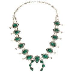 Navajo Sterling Squash Blossom Necklace