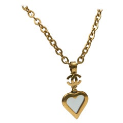 Necklace Chanel CC Large Heart Shape Mirror