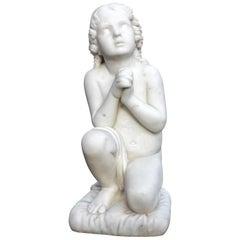 "Neoclassical Marble Sculpture ""Little Samuel"""