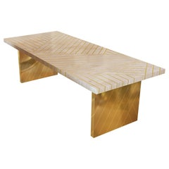 Nesso Small Dining Table Beige by Matteo Cibic