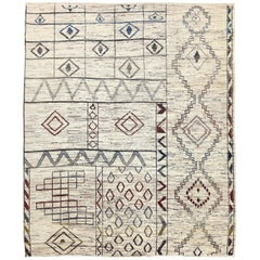 New Afghan Moroccan Style Rug with Colorful Mix of Tribal Patterns