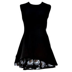 New Alexander McQueen F/W 2015 Wool Dress  $2425 Sz IT 46
