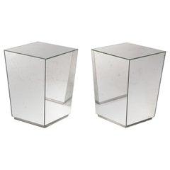 New and Custom Aged Effect Mirror Handmade Nightstands