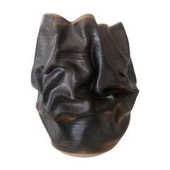 New, Black Dehydrated Form, Vase, Interior Sculpture or Vessel, Objet D'Art