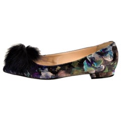 New Eugenia Kim Velvet Mink Pointed Toe Flats Shoes Sz 37  U.S. 6.5