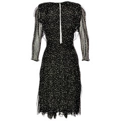 New Gucci 90th Anniversary Ad Runway Video Silk Dress F/W 2011 Sz 36