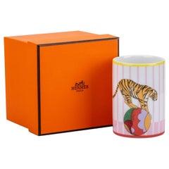 New in Box Hermes Circus Tumbler Porcelain Pink