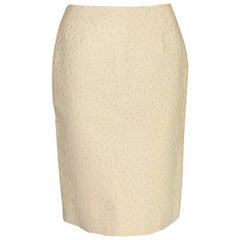 NEW Prada Exotic Ostrich Skin Skirt