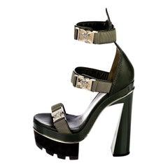 New Versace S/S 2016 Gigi Hadid  Medusa Runway Ad Heels Platform Pumps Sz 36.5