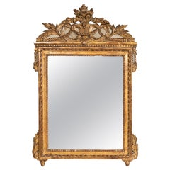 Nice Carved Giltwood Louis XVI Period Mirror, France, Late 18th Century