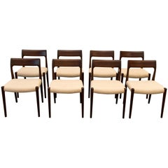 Niels Møller No. 77 Set Chairs, Modern Scandinavia, 1970
