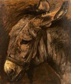 'Study of a Donkey', Paris Salon, Danish Royal Academy, Benezit, Thieme-Becker