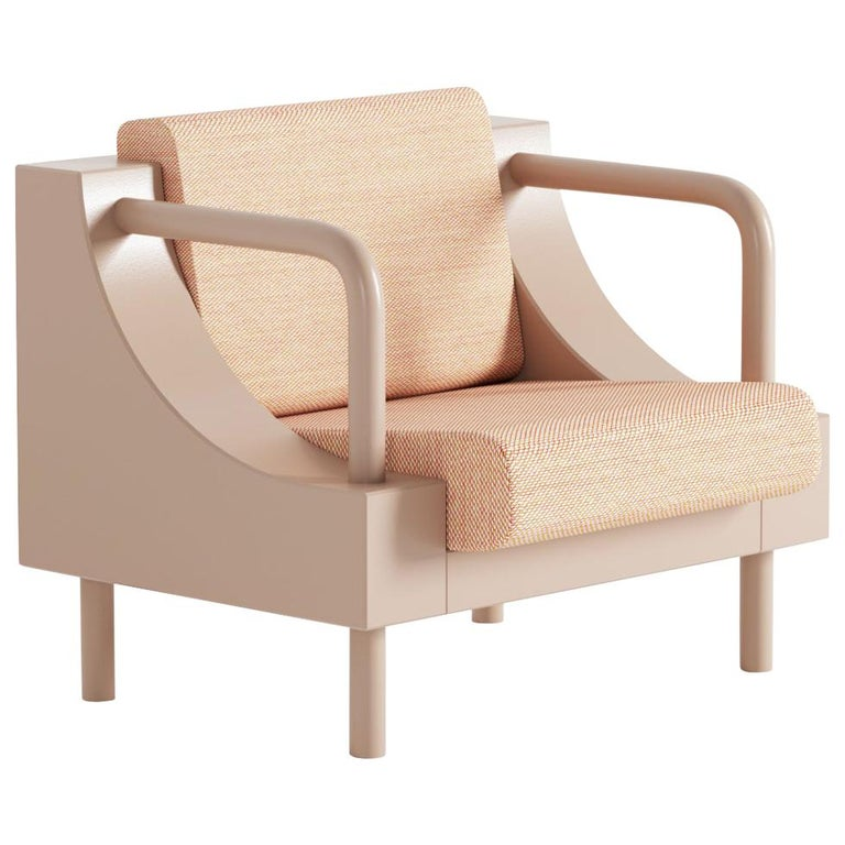 """Normative"" Armchair in Warm Beige Edition For Sale"