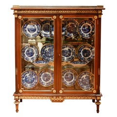 NYC Gilded Age Louis XVI Style Display Cabinet, Attributable to Leon Marcotte