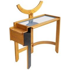 Oak Vanity Table by Guillerme et Chambron