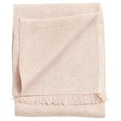 Oat Linen Lightweight Throw In Solid Soft Neutral Color