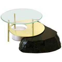 Obsidian Diffuser Lava, Obsidian Slab, Brass an Glass, Limited-Edition