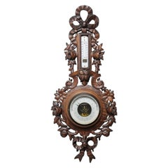 Old French Barometer with Love Knot