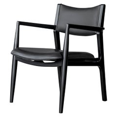 Olimpica Leather and Walnut Armchair by ATRA
