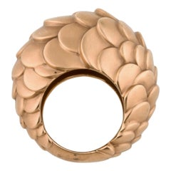 One-of-a-kind 2009 Pomellato Sirene Rose Gold Cocktail Ring
