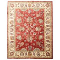 Oriental Rugs, Red Living Room Rugs Handmade Carpet Ziegler Design Rug