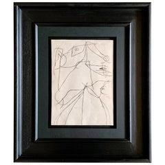 Original Drawing by Joan Miro, 1970s, Spain