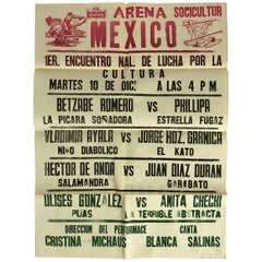 Original Mexican Wrestling Poster