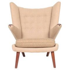 Original Midcentury Papa Bear Chair by Wegner, Danish Design, 1960s