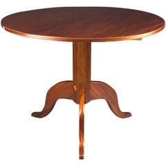 Original Round Biedermeier Folding Table, circa 1820