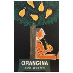 Original Vintage French Poster Orangina 'Better Than A Soda' Raymond Savignac