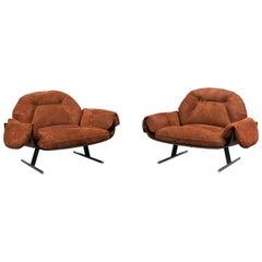 "Original Vintage Pair of ""Presidencial"" Armchairs by Jorge Zalszupin, 1959-1965"