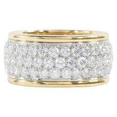 Oscar Heyman Gold and Platinum Round Diamond Wedding Band Ring