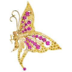 Oscar Heyman Gold Butterfly Brooch