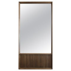 Oslo Rectangular Floor Mirror in Walnut