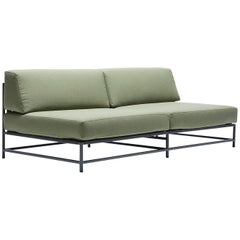 Outdoor Leaf and Charcoal Loveseat