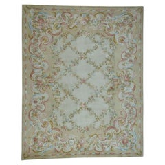 Oversize Savonnerie Floral Trellis Design Thick And Plush Rug