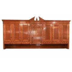 Oversized Oak Vestment Top Cabinet